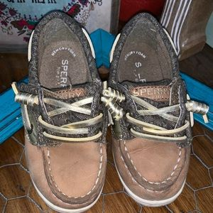 Sperry little girl size 8